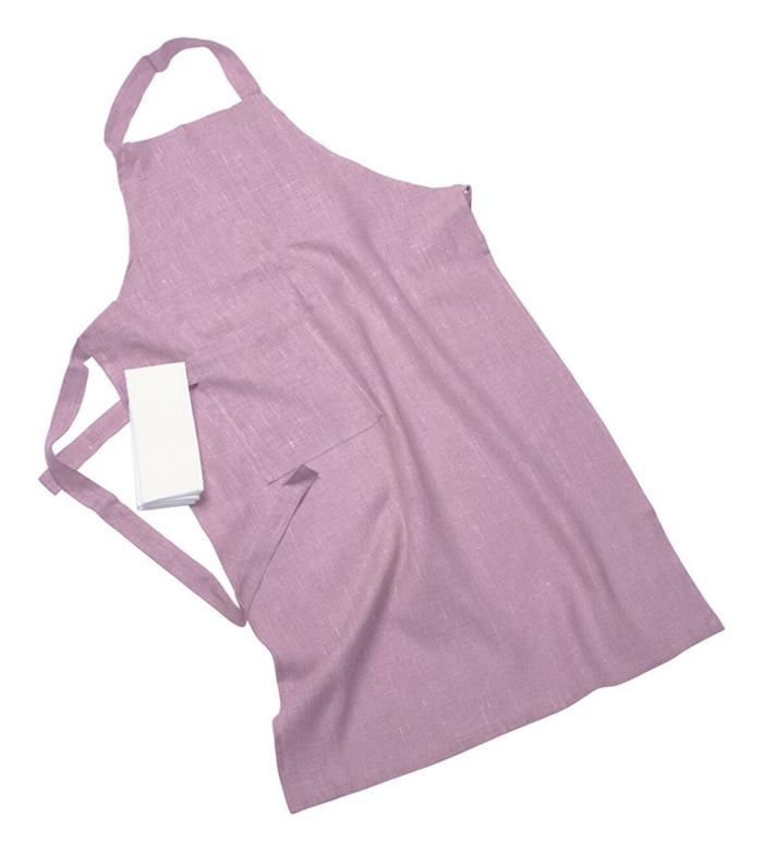 Erik classic lång förkläde – Med handduk, soft pink
