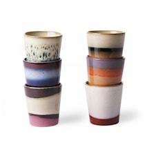Ceramic 70's Mugg 6 st