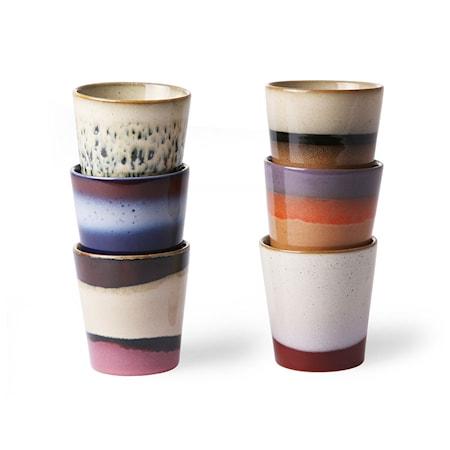 Ceramic 70's Kopp 6 stk