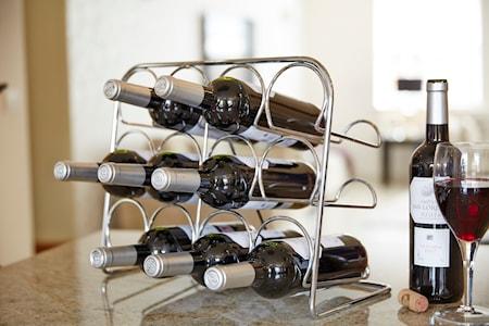 Pisa Vinställ 12 flaskor Krom