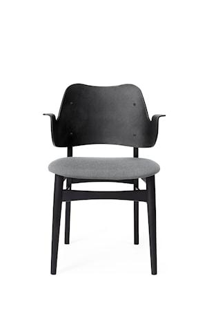 Gesture Chair S Svartlackad Bok Grey Melange Canvas