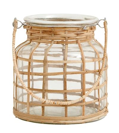 Bamboo Ljusstake Glas Small