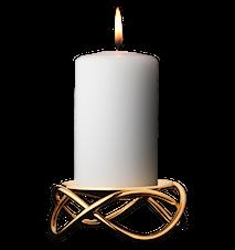 Maria Berntsen Glow Ljusstake Guldpläterad