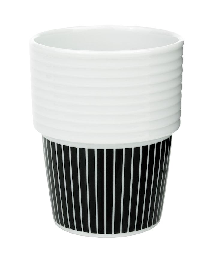 Filippa K Kaffe/tekrus 2 pk 31 cl Pinstripes/svart