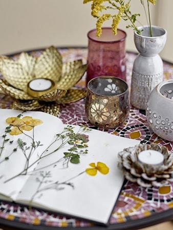 Fyrfadsstage Guld Glas