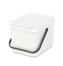 White Rubbish Bin 'Sort & Go' 6 L