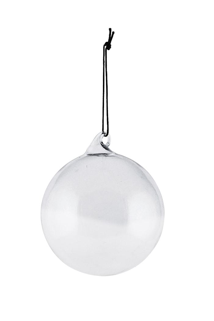 Pyntekugle i glas Ø 8 cm - Grå