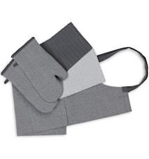 Textilset Recycle 5 delar Grå och Mörkgrå