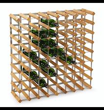 Weinregal für 72 Flaschen, erweiterbar, helle Eiche