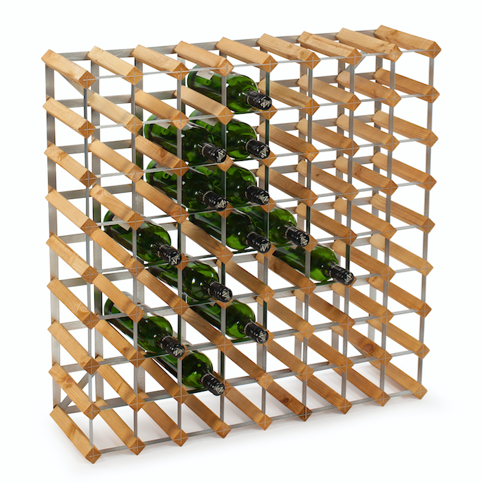 72 pullon Koottava viiniteline, vaalea tammi