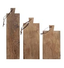 Skærebræt Træ Sæt af 3 L: (S: 31 / M: 38 / L:47) W: (S: 16 / M: 15 / L: 12) H:1.2