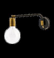 Vägglampa Molecular 22x36cm Svart/mässing
