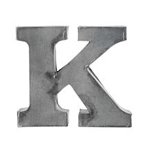 Zinc letter, K