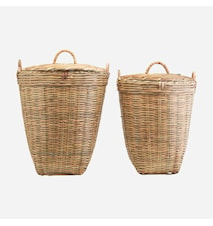 Korgar Set med 2 storlekar Bambu h: 58 cm & h: 48 cm
