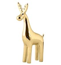 Figur Rentier Keramik gold 23cm