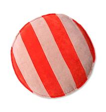 Striped Velvet Stolsdyna Rund Red/Pink 60 cm
