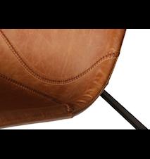 Pitch barstol – Lysebrun/svart