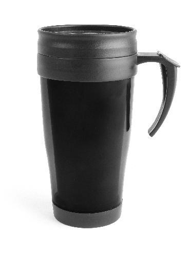 Bilmugg plast svart 40 cl