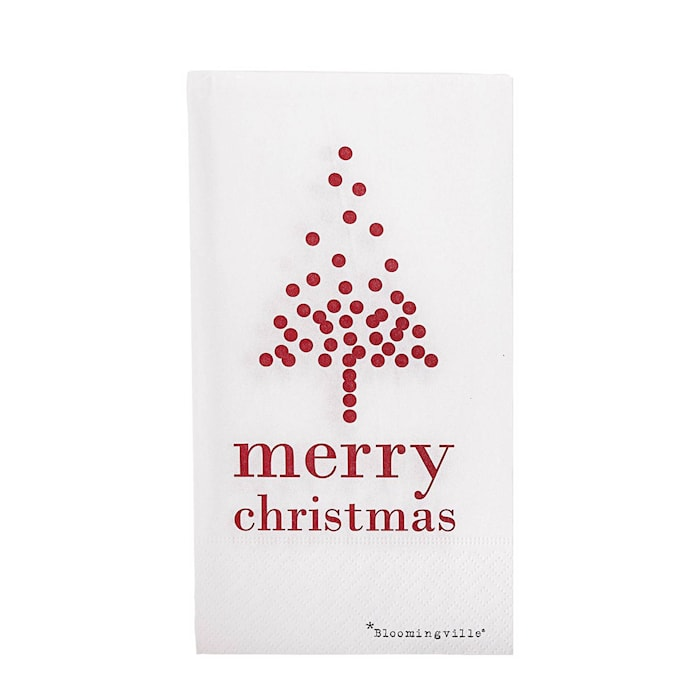 Julservetter Merry Christmas Vit 16-pack