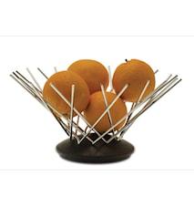 SNOWFLAKE Fruktkorg i rustfritt stål