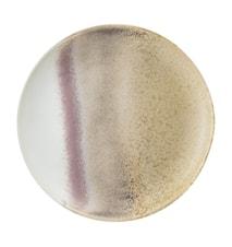 Assiette Alba grès naturel 20,5 cm
