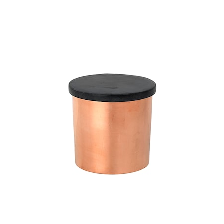 Beholder Soap Stone Ø 8 x H 8 cm Grå/Kobber