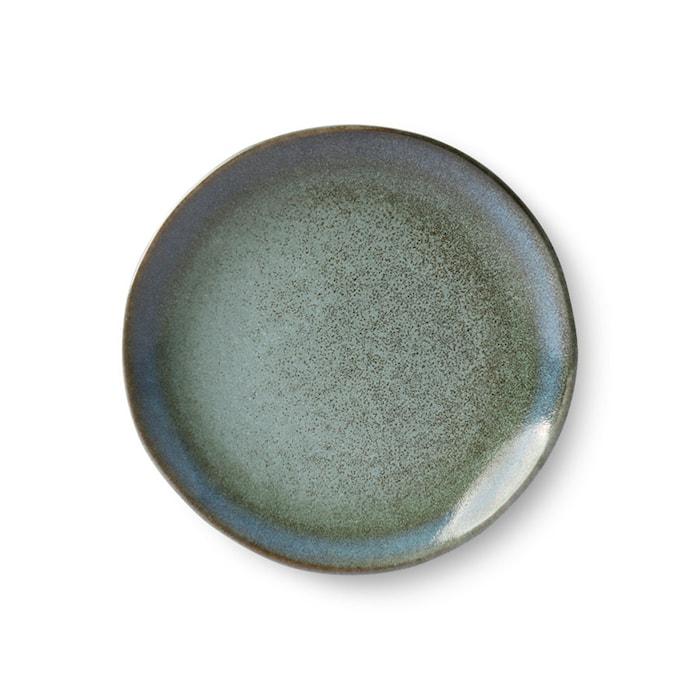 70's Desserttallerken Keramikk Grønn 17,5 cm
