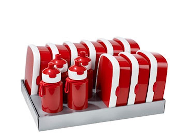 Matlådsset inkl. vattenflaskor Röd 13-delar