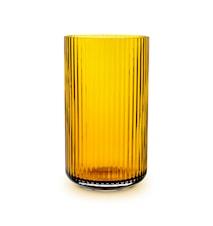 Lyngby Vase Amber Mundblæst Glas H25 cm