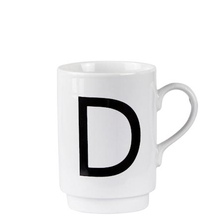 Krus - D - Porcelæn - Hvid - Sort - D 7,0cm - H 10,0cm - 1 - Stk.