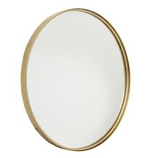 Rund spejl i jern - Guld