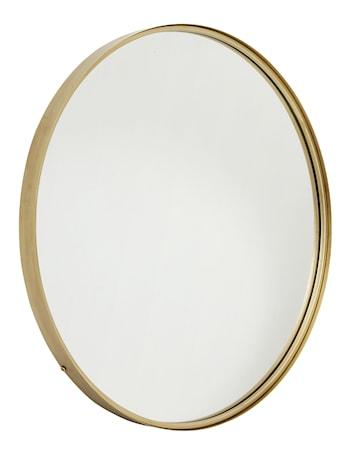 Rund spegel i järn Guld