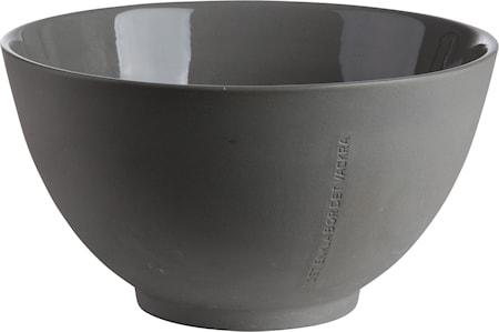 Skål i stengods 22 cm - Grå