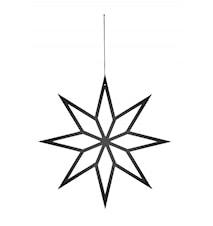 Juletredekorasjon Star Medium - Svart