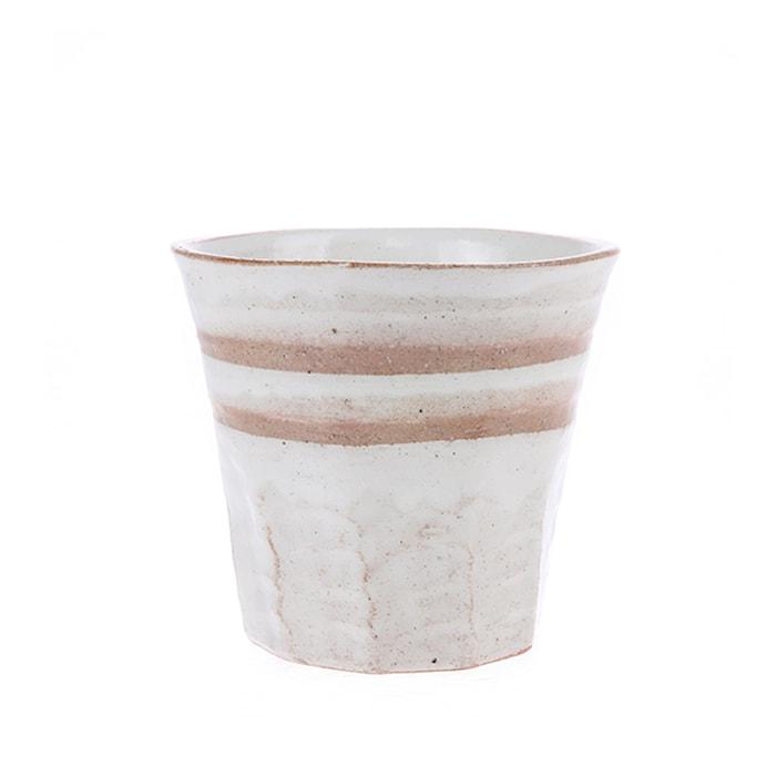 Japansk Keramik Mugg Vit/Terra