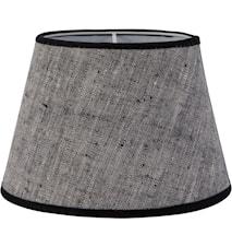 Oval Lin Gråsvart 15cm