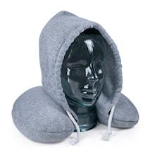 Nakkepude med hoved, grå