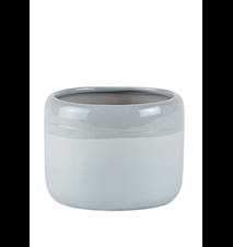 Blomkruka Keramik Ljusgrå 8,5cm