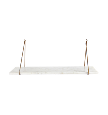 Shelf, Marble, White marble, 24x70 cm, Without brackets