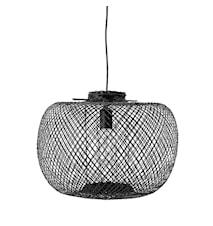 Pendel Lampa Svart Bambu