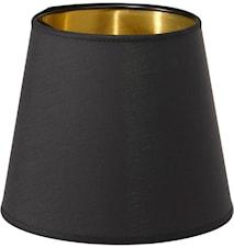 Queen Lampunvarjostin Musta/Kulta 10 cm