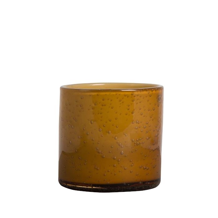 Vaasi/Kynttilälyhty Calore Oranssi k: 12 cm