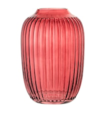 Vase Rød Glass 14 cm