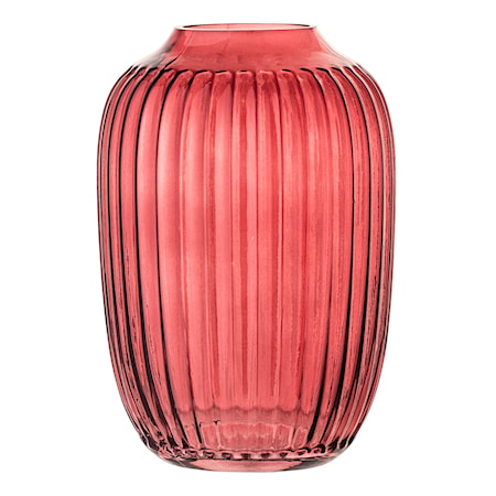 Vas Röd Glas 14 cm