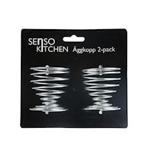 Senso Kitchen Äggkopp 2p Metall 6x4cm Silver