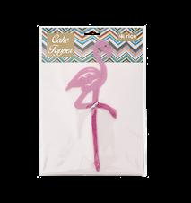 Flamingo Tårtdekoration Glitter