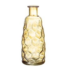 Vaso in vetro goffrato giallo