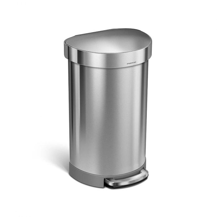 Semi-Pedaltunna Rostfritt stål 45L