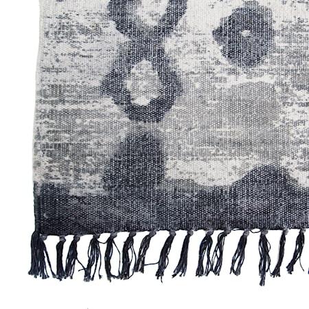 Bomullsmatta Grå/Svart 180x280 cm