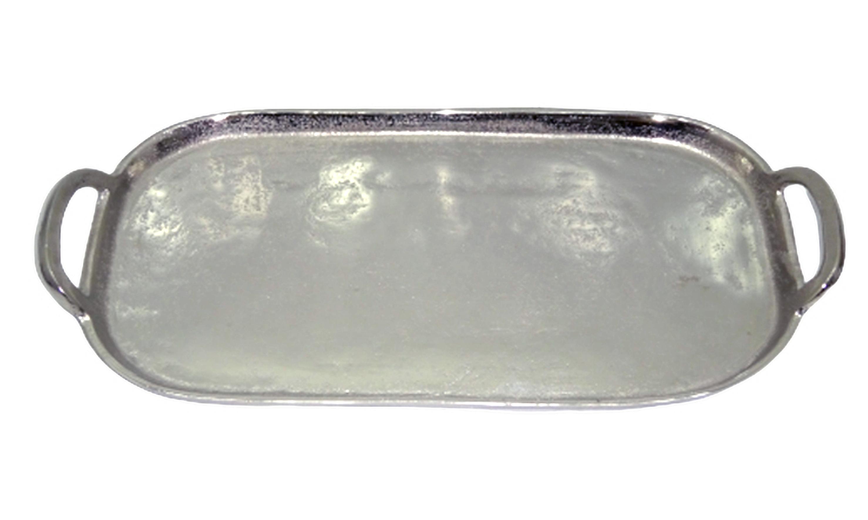 Sari Serveringsbricka oval aluminium handtag 41*195*4
